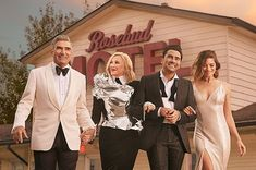 Make Sure You Get to the Schitt's Creek Pop-Up at Replay Before It Ends | UrbanMatter Geordie Shore, Sabrina Sato, Drew Scott, Kate Beckett, Rose Family, All In The Family, Nathan Fillion, Matt Damon, Comedy Central
