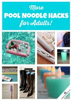 These are good ideas, as a cord storage, who'd a thunk it!  lol   More Pool Noodle Hacks...for Adults!  via createcraftlove.com