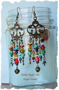 Rustic Boho Tribal Gypsy Earrings Bohemian Jewelry by BohoStyleMe                                                                                                                                                                                 More