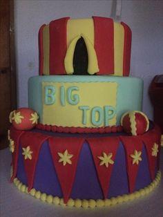 Finishing Big Top Circus Tent Cake