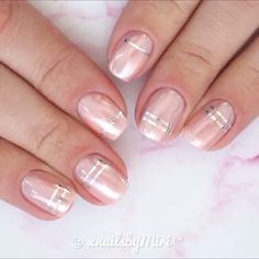 --Video Pin-- Chrome nail art on natural nails for special occasions Nail Art Designs, Nail Designs Pictures, Ombre Nail Designs, Nail Polish Designs, Pedicure Nails, My Nails, Long Nails, Chrome Nail Art, Nails Art 2016