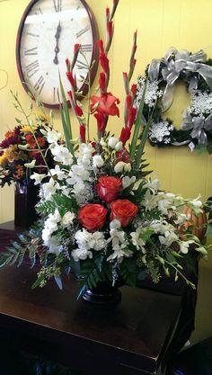 Roses, Glads, orchids, alstro