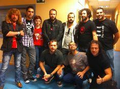Con Medina Azahara, Angel Martin, Ricardo Castella, Miguel Miguel y El Massana