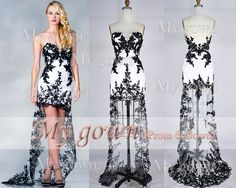 2014 Prom DressStrapless Hilow Gown Rich Beaded Lace by MyGown, $179.90