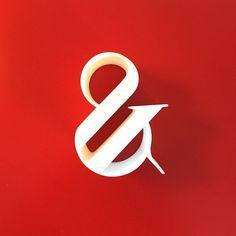 Paris Pro Typeface 3d Ampersand! Love it! http://instagram.com/p/u8rX33AqzM/?modal=true