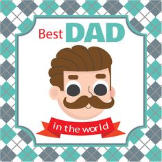 Best Dad In the World Vector Background Photo