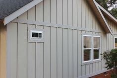 When choosing our exterior siding, I knew that I wanted to create a craftsman/farmhouse look with board and batten. When choosing our exterior siding, I knew that I wanted to create a craftsman/farmhouse look with board and batten. Exterior Siding Options, Exterior House Siding, Wall Exterior, Cottage Exterior, Exterior Remodel, Exterior House Colors, Barn Siding, Hardie Board Siding, The Farm