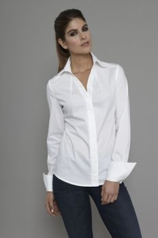 18be647e616b Are you interested in our V neck shirt  With our White shirt you need look  no further. Open Collar ShirtCollar BlouseBlouse DressCollar ShirtsShirt ...