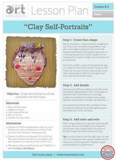 Clay Self-Portraits: Free Lesson Plan Download