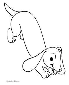 dog color pages printable free dog printables