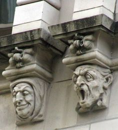 Grotesques's on a building