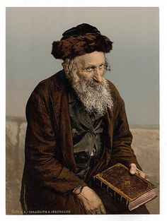 A Jewish man in Jerusalem in the late 1800's