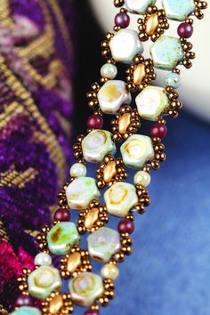 Combine Honeycomb and Miniduo beads to make this beautiful bracelet. From Bead & Jewellery Issue 70.