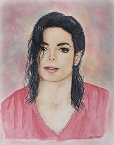 Michael Jackson - Love You More - original Zeichnung Drawing Bild 32cmx41cm