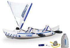 Kayaks : Sea Eagle 330 Inflatable Kayak Includes QuikSail Seats Paddles and Pump
