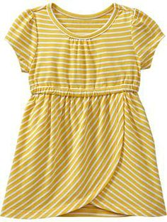 Striped-Jersey Tulip Dresses for Baby- great for field service