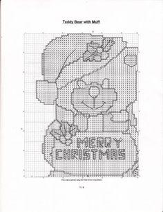 Christmas Cross Stitch Pattern Teddy Bear