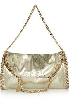 Stella McCartney The Falabella convertible metallic faux leather shoulder bag  NET-A-PORTER.COM