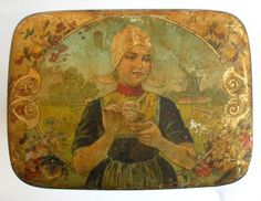 LARGE-ANTIQUE-COCOA-CACAO-HOLLANDAIS-LITHOGRAPHED-TIN-BOX-DISPLAY-BEKKERS-ZOON