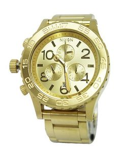 Nixon The 42-20 Chrono Watch NIXON. $352.99. Condition:brand new with tags. Band color: gold. Model: A037502. Dial color: gold. Brand:Nixon