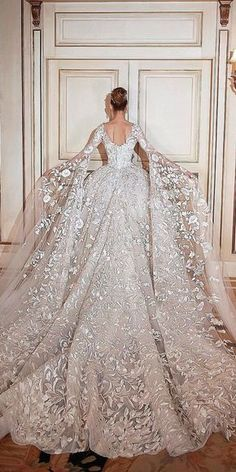 30 Ball Gown Wedding Dresses Fit For A Queen ❤️ ball gown wedding dresses w. 30 Ball Gown Wedding Dresses Fit For A Queen ❤️ ball gown wedding dresses with low back and long sleeves by sadek majed couture ❤️ See more: www. Princess Wedding Dresses, Dream Wedding Dresses, Bridal Dresses, Princess Ball Gowns, Queen Wedding Dress, Ball Gown Wedding Dresses, Modest Wedding, Wedding Dress Long Train, Indian Wedding Guest Dress