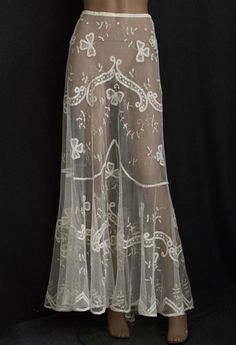 Edwardian lace skirt