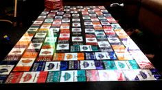 Swisher Sweet DIY wrapper table top #swishersweets #swishersmokes #swisher #sweet #smoke #DIY #wrappers #table
