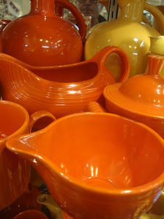 Orange Fiestaware.  ACTUALLY, THIS IS THE ORIGINAL RADIOACTIVE RED FROM 1939