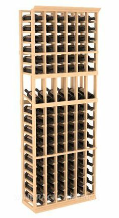 """Five Star Series: 6 Column 102 Bottle Display Wine Cellar Rack in Pine by Wine Racks America®. $340.25. 11/16"""" wood thickness. Designed for 750ml wine bottles. Some assembly required .. Bottle capacity: 102 bottles (750ml). Industry 1-1/2"""" toe-kick keeps your wine off the floor.. Choose From either Pine, Redwood, or Mahogany along with optional Industry Leading Quality Eco-Friendly Stains Paired with an Immaculate Satin Finish. Each have custom finishes and are professionally ..."""