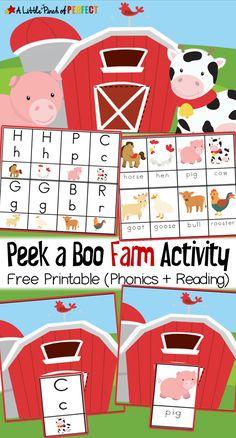 Peek a Boo Farm Anim