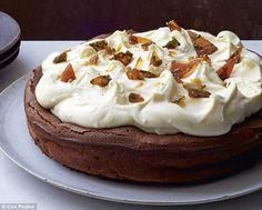 Chocolate and mint caramel cake Gordon Ramsey