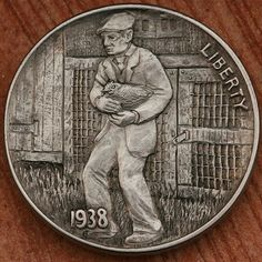 Italy Pictures, Hobo Nickel, Coin Art, Art Forms, Metal Art, Sculpture Art, Coins, Carving, Sketches