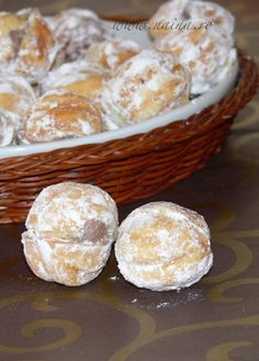 Naina's kitchen: Nuci umplute Romanian Desserts, Romanian Food, Romanian Recipes, Peach Cookies, Cupcake Cookies, Cupcakes, Cookie Recipes, Dessert Recipes, Dessert Ideas