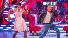 http://www.bbc.co.uk/strictly Frankie Bridge and Kevin Clifton dance the Charleston to 'Happy Days'.