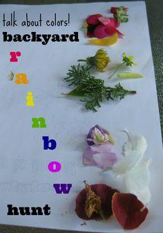 talk about colors | backyard rainbow hunt #summer #weteach
