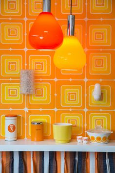 Geometrisch retro behang | Swiet