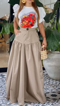 Chic Dress, Classy Dress, Classy Outfits, Casual Outfits, Maxi Skirt Outfits, Maxi Shirt Dress, Long Skirt With Shirt, Pakistani Party Wear Dresses, Long Skirt Fashion