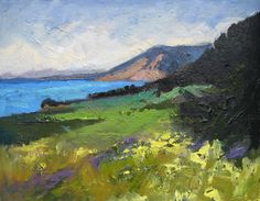 """""""North of Greyhound,"""" oil, by artist Barbara Lawrence"""