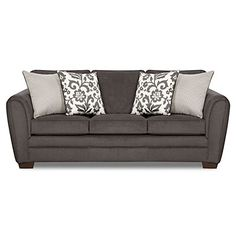 Simmons® Flannel Charcoal Sofa with Pillows at Big Lots. LOVE THE PILLOWS! Just need to add some color