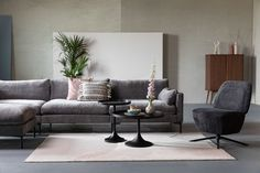 Cosy Sofa, Home And Living, Living Room, Grey Couches, Pink Cushions, Sit Back And Relax, Soft Colors, Rug Size, Flamingo