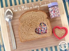 Give your child a special treat in their lunchbox.  Make a fairy sandwich to brighten up their day!