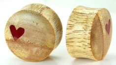 Red Heart on Kayu Putih Wood Body Jewelry, available in 8mm - 25mm. This is organic body jewelry, so pieces may vary slightly in color and size. However, we do our best to match up the 2 most alike when you purchase a pair. Prices start at $7.49 for 1 or $6.99 each when you buy a pair, but prices vary slightly by size.