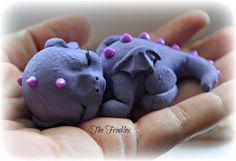dragon polymer clay sleepy violet the frinkles