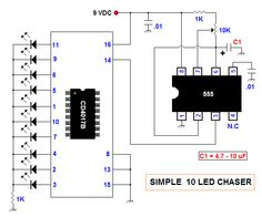 LED Nightlight and Laser Light Show Using 4017 and Electronics Projects, Electronic Circuit Projects, Electronics Components, Led Projects, Electrical Projects, Electrical Engineering, Science Projects, Science Activities, Arduino