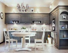 Серая кухня (39 фото), сочетание с бежевым и фиолетовым, обои цвета мокрого асфальта, дизайн своими руками: инструкция, фото и видео-уроки, цена