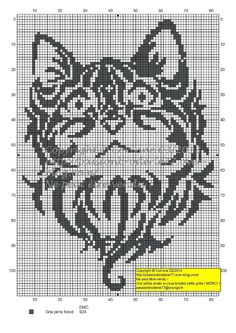 Cat cross stitch - I wonder if I can do this... for my first actual graphghan project I just want to stick to 2 colours... I really didn't want one to be white, but I did want one to be black LOL