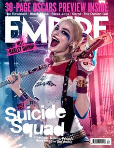 'Escuadrón Suicida': Mira la portada de Empire con Margot Robbie como Harley Quinn en HD - Noticias de cine - SensaCine.com