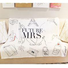 Custom illustrated future mrs blanket