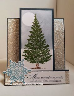 Mrs. Lincoln's Inkin: Step Card Christmas Card using Stampin' Up! Visit my website for a closer look.  Happy Inkin'!!!!
