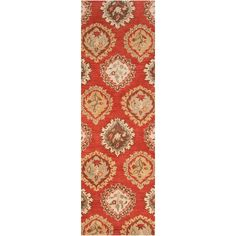 Hand tufted Humble Wool Rug (Burnt Umber-(2' x 3')), Orange, Size 2' x 3'